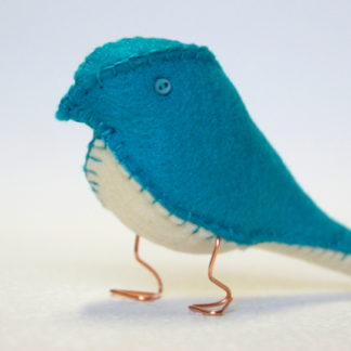 Electric Blue Fabric Finch