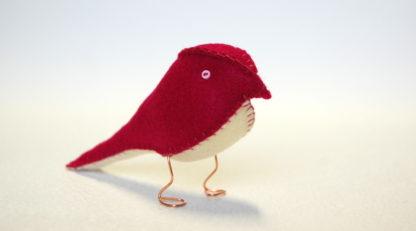 Regal Red Fabric Finch