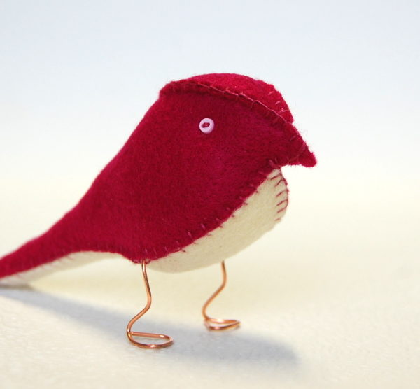 Regal Red Fabric Finch